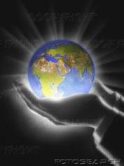 jesus holding the world